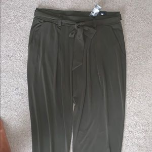 """Express olive green soft material """"dress-like""""pant"""